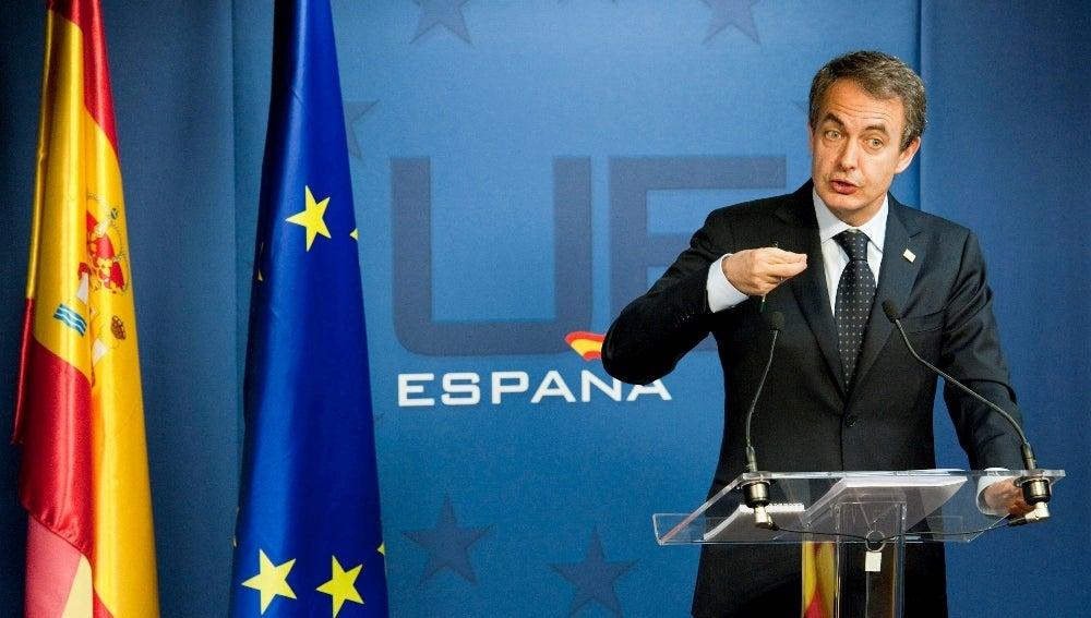 El presidente del Gobierno español, José Luis Rodríguez Zapatero