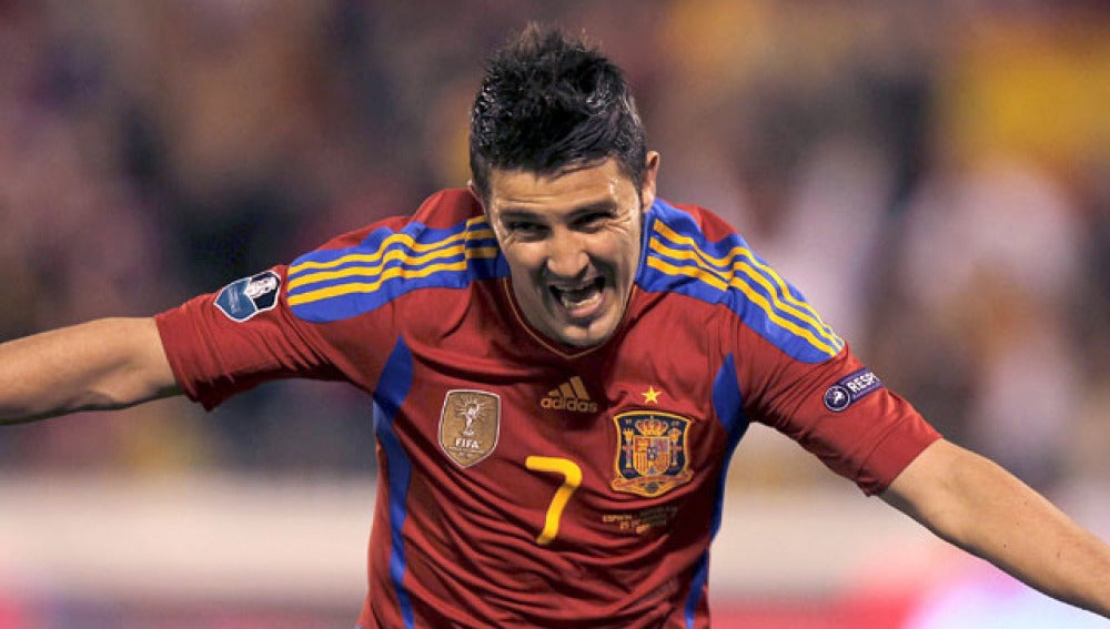 Villa, máximo goleador de la selección