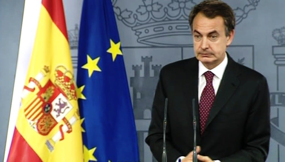 Jose Luis Rodríguez Zapatero tras reunirse con los empresarios