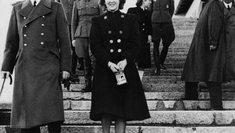 Hitler junto a Eva Braun