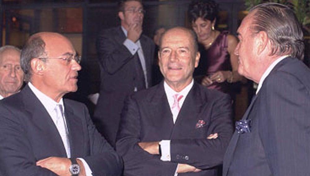 José Antonio Segurado entre Díaz Ferrán y Fernández Tapias