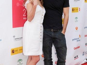Adriana Ugarte y Hugo Silva durante la presentación en Málaga
