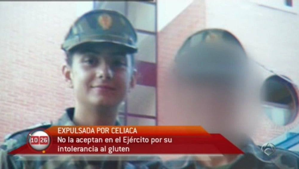Expulsada del Ejército por ser celíaca
