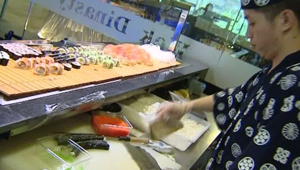 Cocina de un restaurante japonés