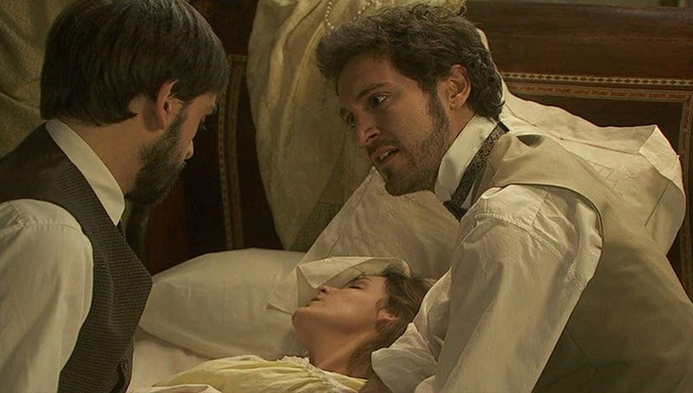 Alberto preocupado, manda a Tristán a por ayuda