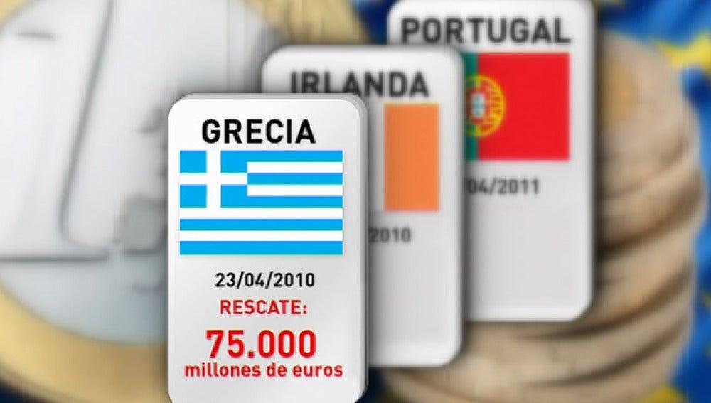 Los tres rescates financieros