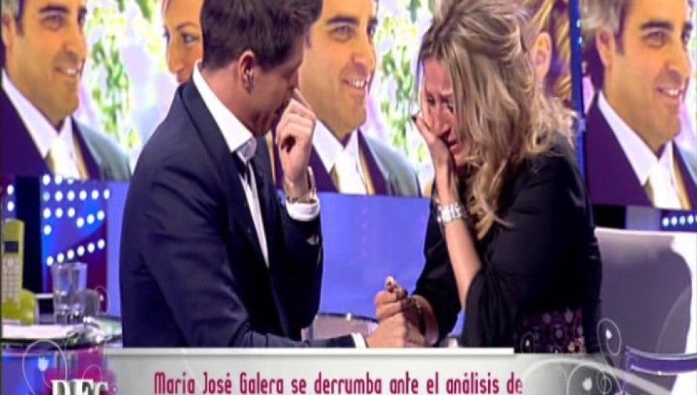 María José Galera se desmorona