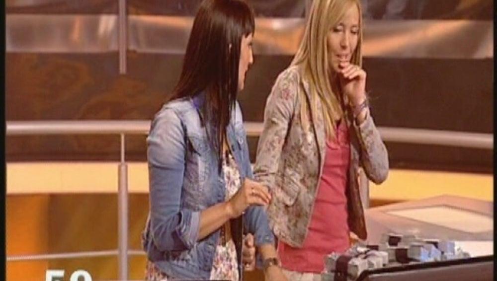 Natalia y Olga en Atrapa un millón diario