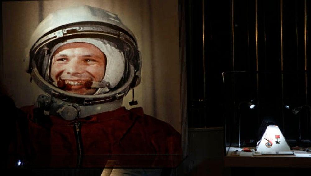 El astronauta soviético, Yuri Gagarin