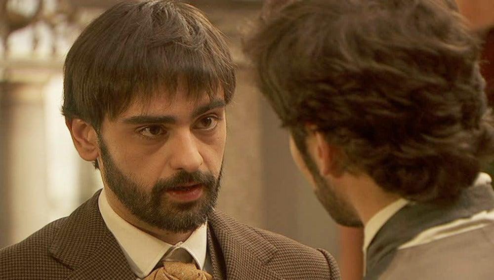 Alberto advierte a Tristán que no altere a Angustias