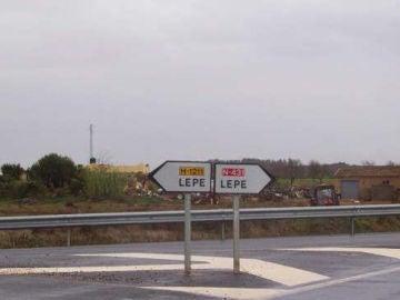Cartel del pueblo Lepe