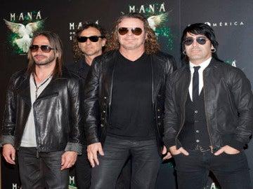 El grupo Maná durante la presentación de su disco 'Drama y Luz'.