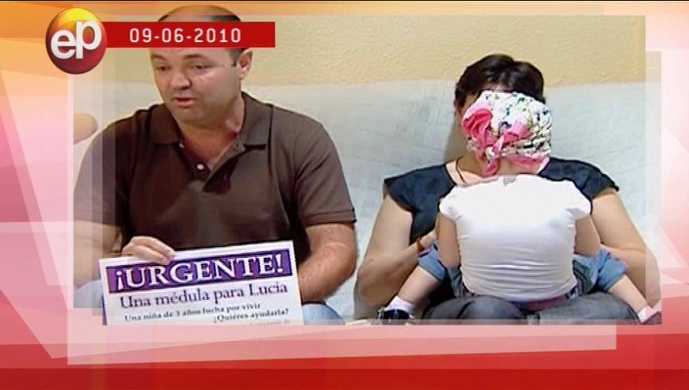 Lucía con leucemia