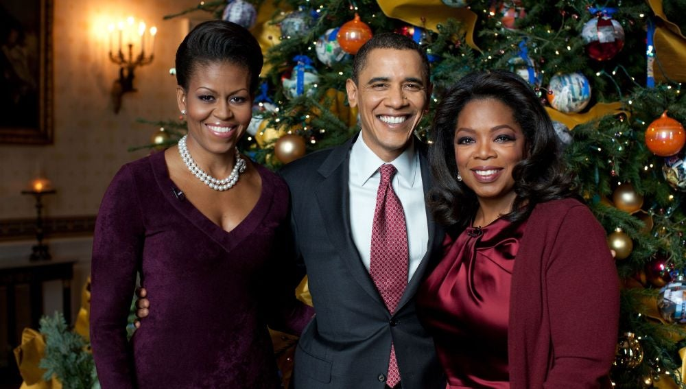 Los Obama con Oprah Winfrey