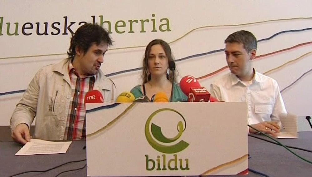 Rueda de prensa de Bildu