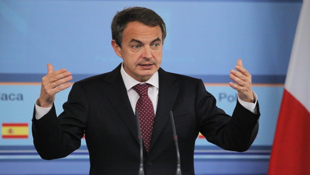 Zapatero, en un mitín.