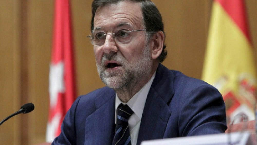 Rajoy en una comparecencia pública.