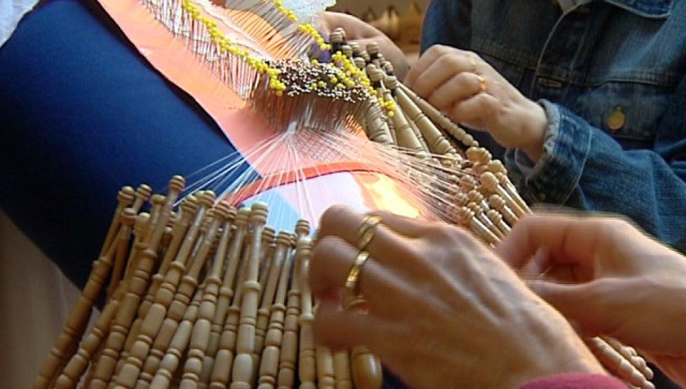 Mantillas para la Semana Santa, hechas a mano