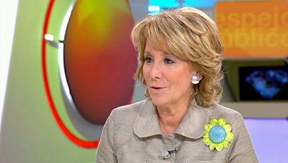 Esperanza Aguirre en Espejo Público