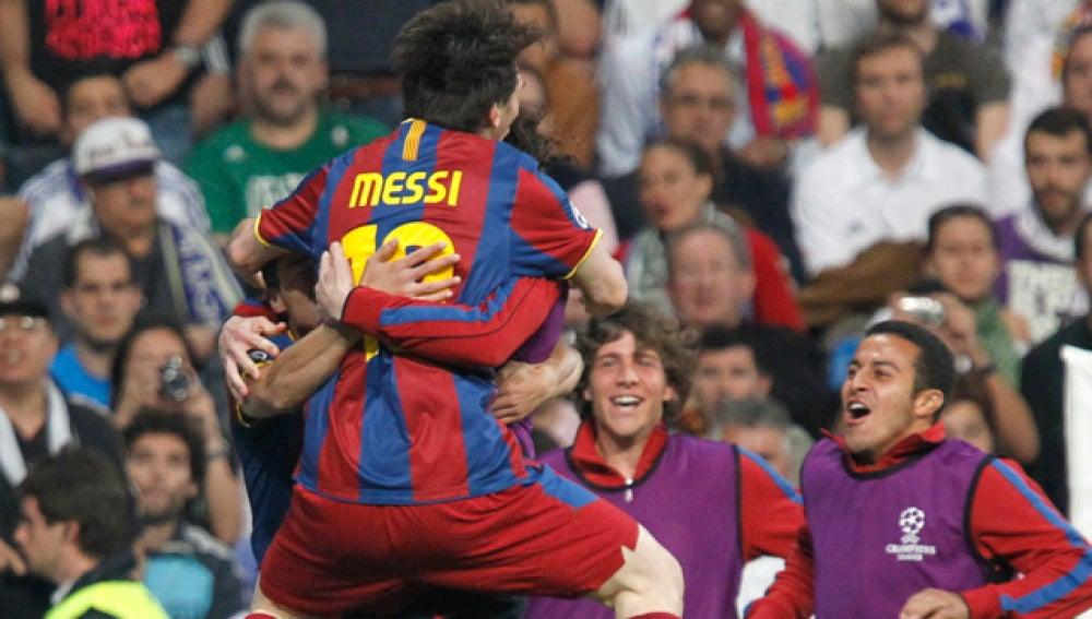 Messi celebra el gol