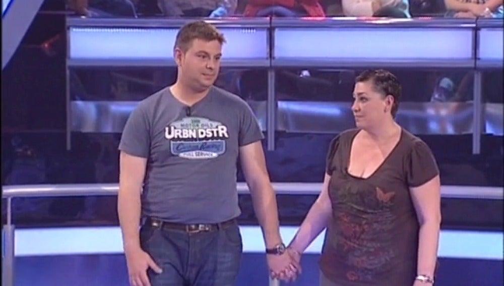 Silvia y Rubén en Atrapa un millón