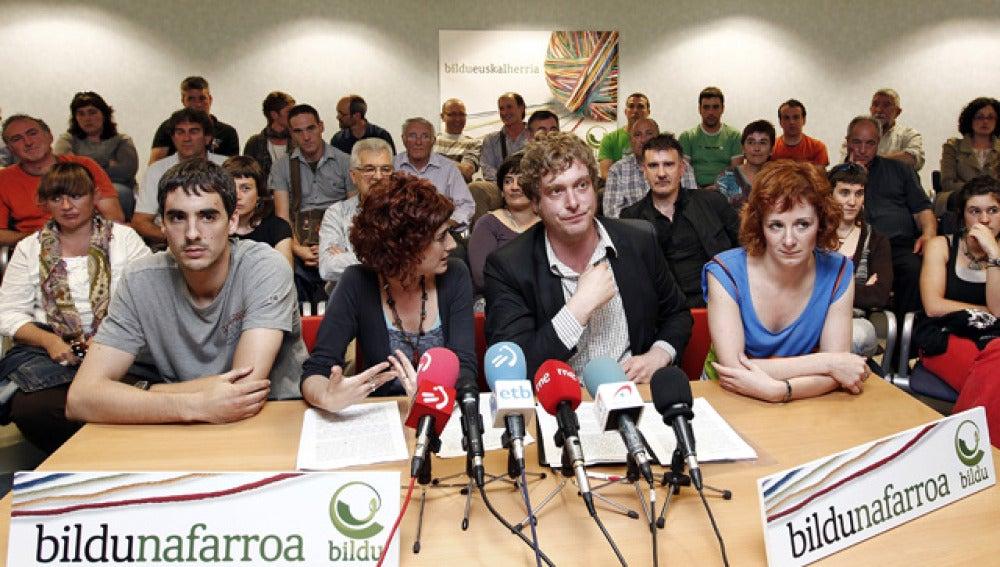 Los candidatos de Bildu al Parlamento de Navarra