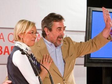 Eva Almunia y Juan Alberto Belloch