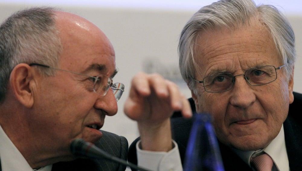 Miguel Ángel Fernández Ordóñez y Jean Claude Trichet