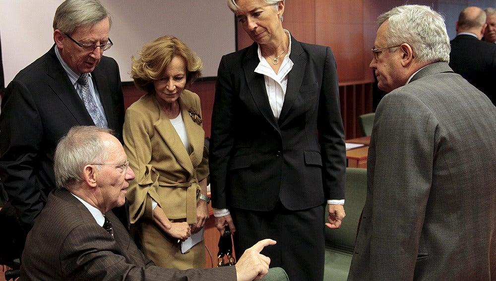 Líderes económicos en Bruselas
