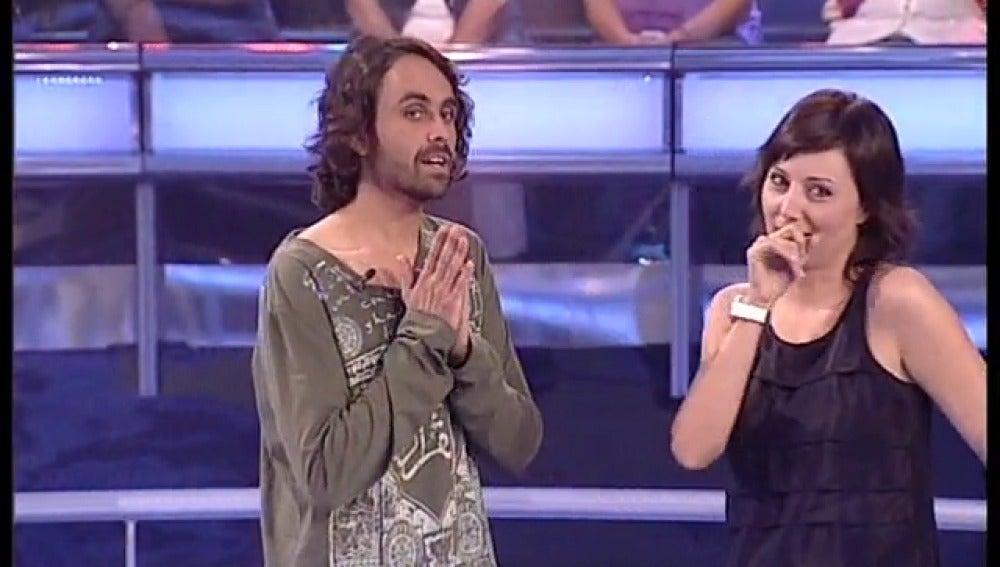 Irene y Edu en Atrapa un millón
