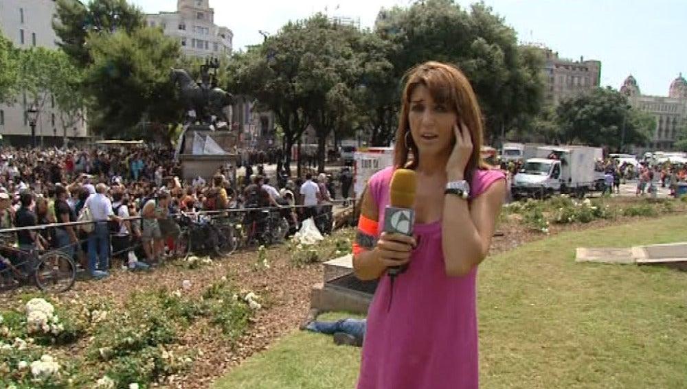 La reportera Marta Llohis