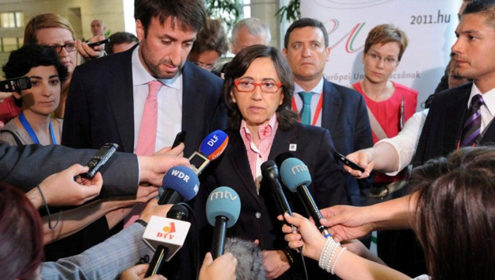 Rosa Aguilar en la reunión de Hungría