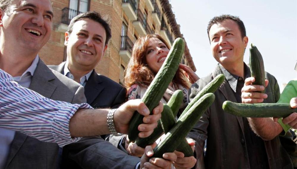 Brasero y Manu Sánchez apoyaron el pepino