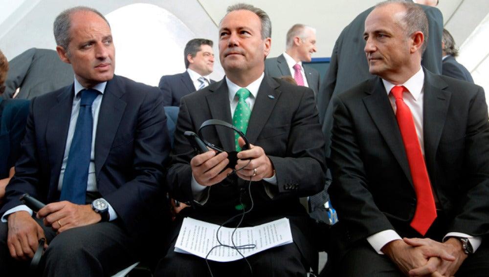 Camps y Sebastián, junto al presidente de Ford en Europa