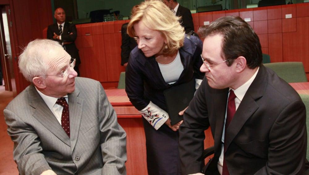 Salgado en la reunión del Eurogrupo