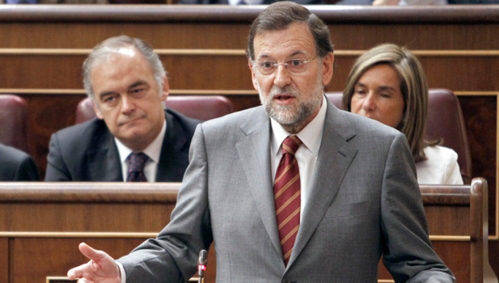 Rajoy en la sesión del control en el Congreso