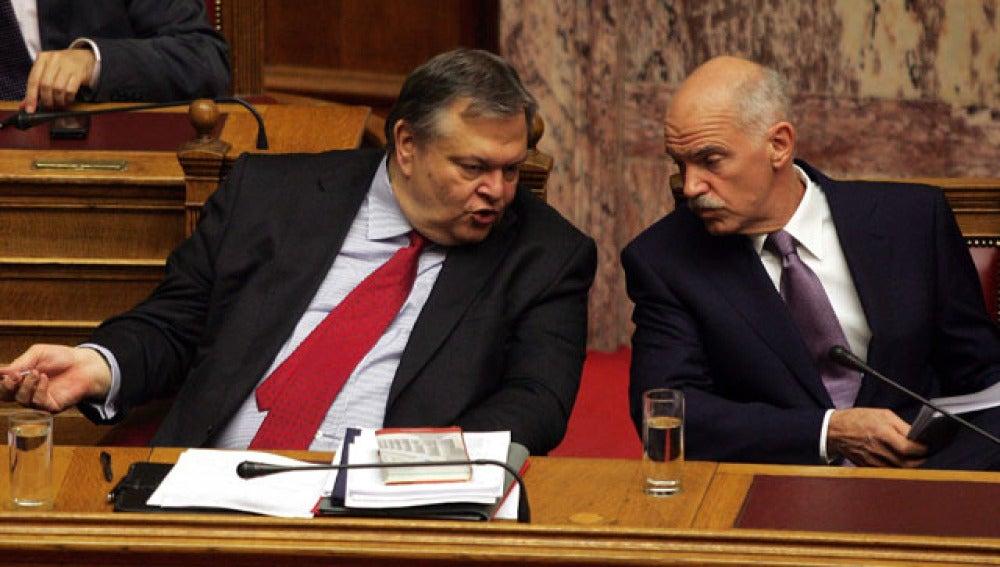 Yorgos Papandreu, en el parlamento