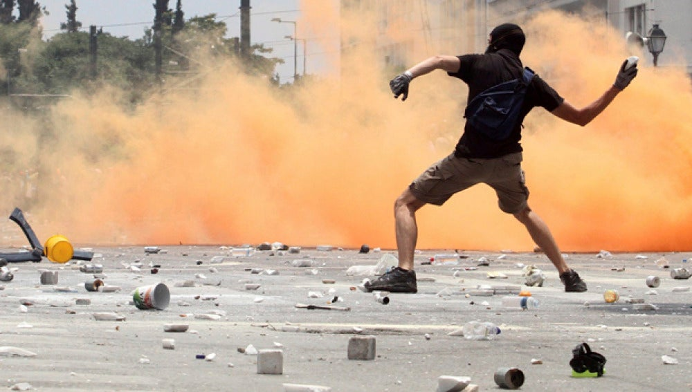 Destrozos por los disturbios