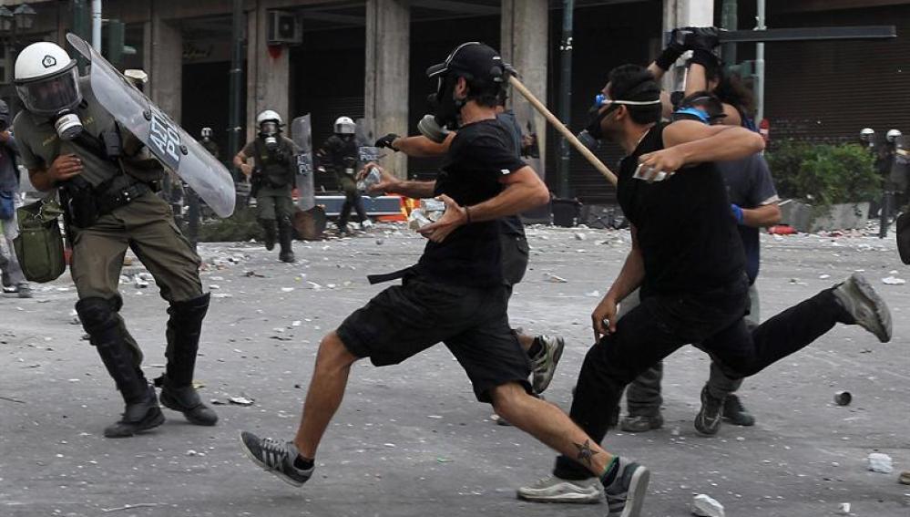 La policía protege el Parlamento griego