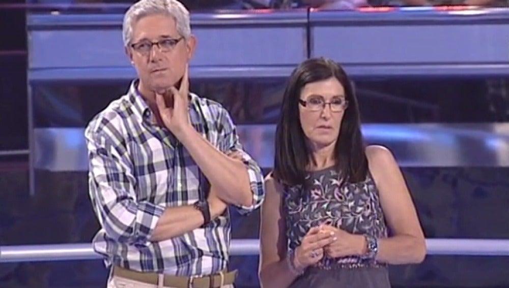Josema Yuste y Elena en Atrapa un millón