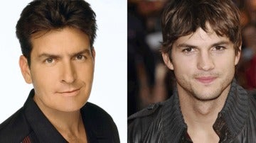 Charlie Sheen y Ashton Kutcher
