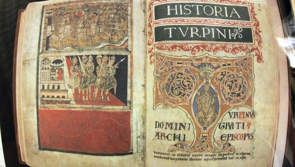 Página interior del Códice Calixtino
