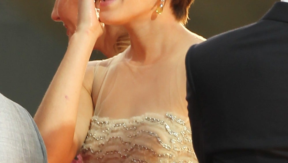 Emma Watson muy emocionada