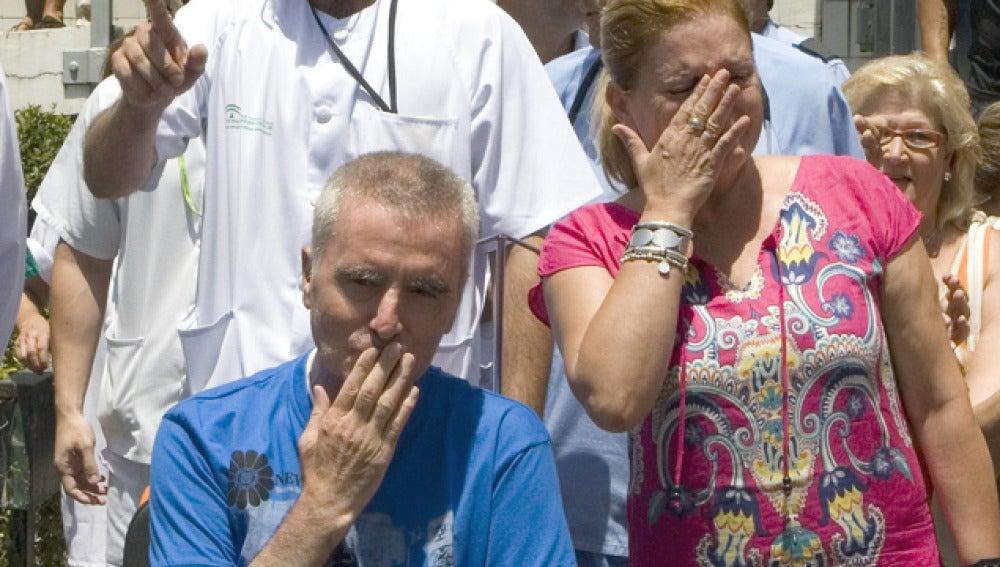 El diestro Ortega Cano a su salida del hospital