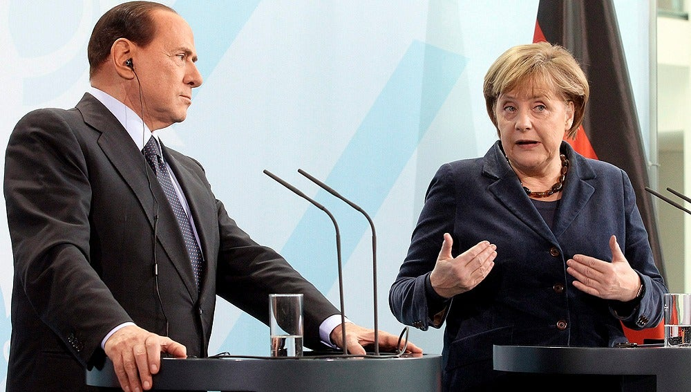 Merkel con Berlusconi