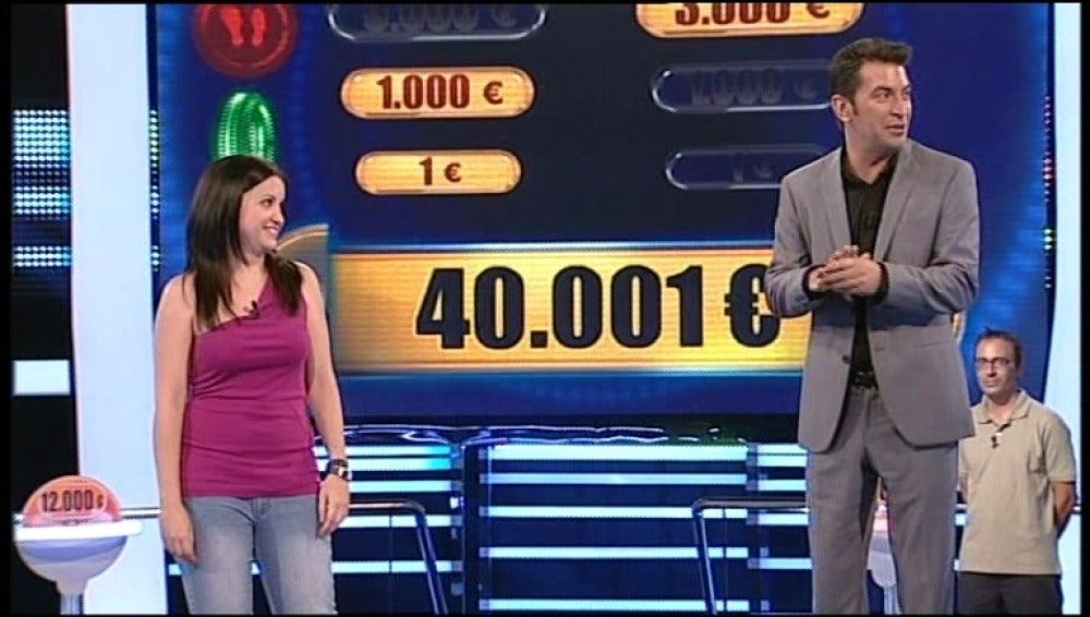 Sara se planta con 40.001 euros