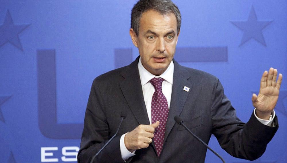 Comparecencia de Zapatero tras la cumbre del Eurogrupo