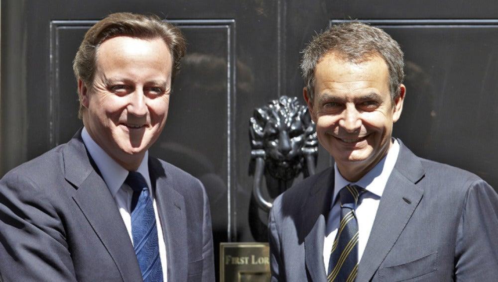 Encuentro entre Zapatero y Cameron en Londres