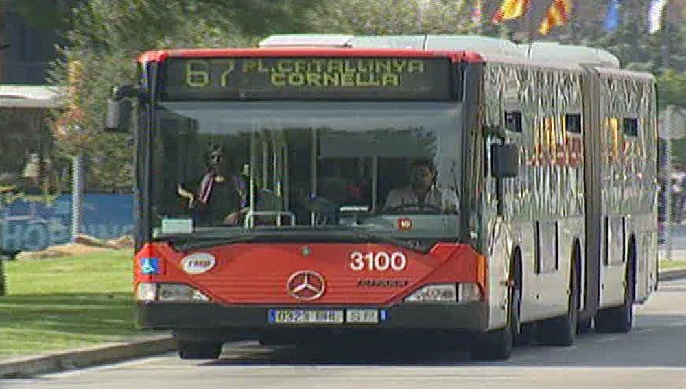Un autobús en Barcelona