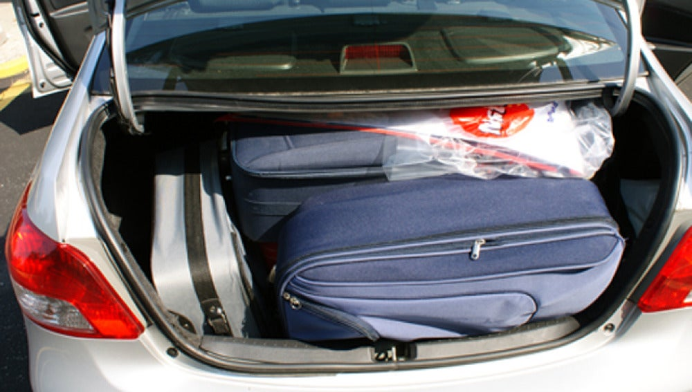 Maletas en el coche